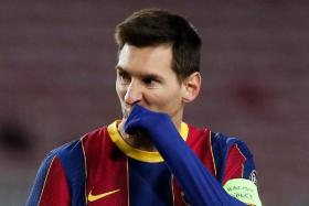 With 643 goals, Lionel Messi (above) is comfortably Barcelona's leading scorer, ahead of Cesar Rodriguez's tally of 230.