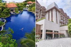 Beach Villas (left) and Equarius Hotel