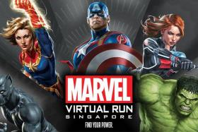 The Marvel Virtual Run's clock-in period started on Jan 1, 2021.