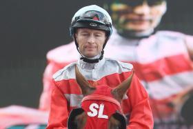 Jockey Greg Cheyne, the rider of Helen's Ideal in Race 4.