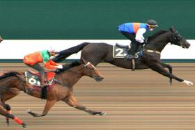 Bright Almighty winning Trial 3 in 59.31sec.