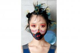 Reckless Ericka's mask is inspired by food in Singapore.