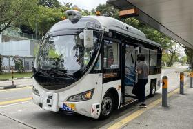 Driverless bus trials attract curious passengers