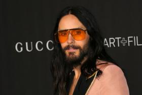 In this file photo US actor/musician Jared Leto arrives for the 2019 LACMA Art+Film Gala at the Los Angeles County Museum of Art in Los Angeles.