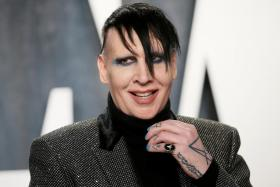 Marilyn Manson attends the Vanity Fair Oscar party in Beverly Hills during the 92nd Academy Awards, in Los Angeles, California, U.S., February 9, 2020.