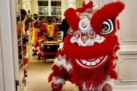 Lion dance troupes scale down performances, take huge hit in revenue