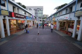HDB shophouses at Ang Mo Kio Central.