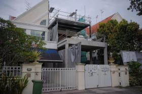The man died after he fell through an opening in the floor and landed on a staircase 4.7m below at a house at 38 University Walk.