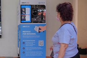 Jurong to get five more vending machines to boost recycling