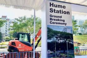 A groundbreaking ceremony to begin work on Hume station was held on Feb 28, 2021.
