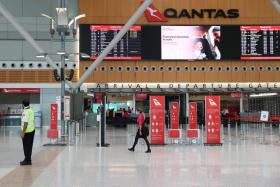 A quiet Sydney Airport is seen in the wake of a COVID-19 outbreak in Sydney