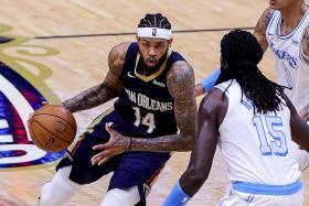 Pelicans' Ingram rampant as depleted LA Lakers lose three in a row
