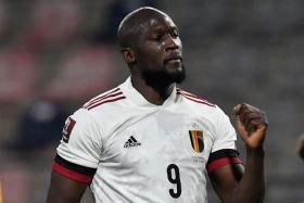 Belgium striker Romelu Lukaku's penalty goal brings his international tally to 58 goals in 90 caps.
