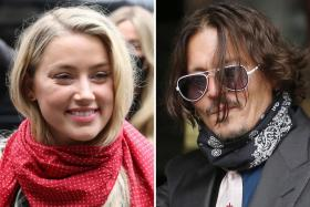 In this file photo taken on July 08, 2020 A combination of pictures shows US actress Amber Heard (L) and her former husband US actor Johnny Depp (R) arriving on the second day of Depp's libel action against News Group Newspapers (NGN), at the High Court in London, on July 8, 2020.