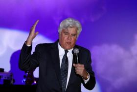 Comedian Jay Leno speaks at the Carousel of Hope Ball in Beverly Hills, California U.S. October 8, 2016.