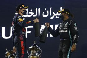 Max Verstappen pipped by Lewis Hamilton in F1 season-opener