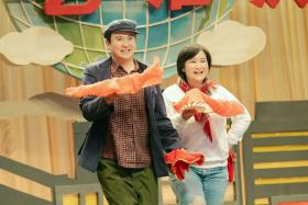 Shen Teng in a scene with Jia Ling.