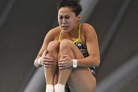 Freida Lim on the brink of an Olympic diving spot