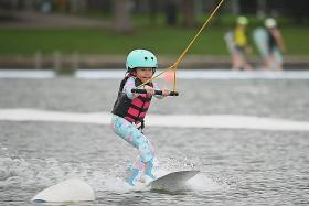 Little Maisie Ong, 7, making big waves