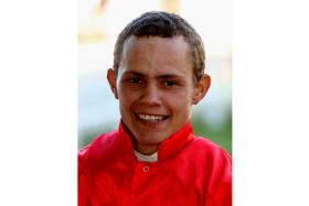 Richard Fourie, the rider of top bet Do It Again in Race 5.