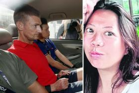 Australian Paul Leslie Quirk (left) hit Christina Khoo Gek Hwa (right) repeatedly with martial arts sticks and stabbed her in the neck. The killing took place at the couple's home in Esparina Residences in Sengkang).