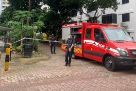 When SCDF responded to the incident at Block 45 Circuit Road on Saturday, it deemed that the woman might pose a danger to herself and deployed a safety life air pack on the ground.