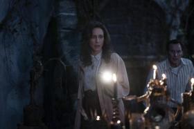 Vera Farmiga (left) and Patrick Wilson in The Conjuring: The Devil Made Me Do It