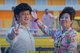 A screengrab of the music video starring Gurmit Singh and Irene Ang, which has garnered more than five million views.