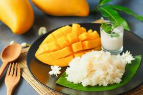 The mango sticky rice is a new addition to Atrium Restaurant's buffet spread.