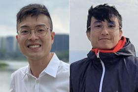 Mr Vincent Cai (left) joined the Health Ministry's contact tracing task group a month before the first Covid-19 case was reported in Wuhan; Mr Chan Wei Zhang will be starting work as a software engineer.