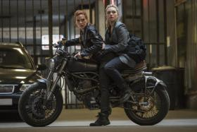 Scarlett Johansson (left) and Florence Pugh in Black Widow
