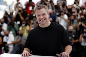 Actor Matt Damon poses during the photocall for 'Stillwater' at the 74th annual Cannes Film Festival, in Cannes, France, 09 July 2021.