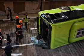 14 taken to hospital after Bukit Batok bus interchange collision