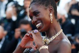 """Jodie Turner-Smith at the 74th Cannes Film Festival screening of the film """"After Yang"""" in competition for the category Un Certain Regard - Red Carpet Arrivals - Cannes, France, July 8, 2021."""