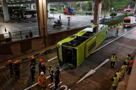 Most of those hospitalised after Bukit Batok bus collision discharged