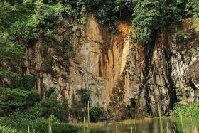 Rockslide at Singapore Quarry startles visitors