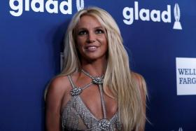Singer Britney Spears poses at the 29th Annual GLAAD Media Awards in Beverly Hills, California, U.S., April12, 2018.