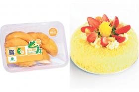 DurianBB's Mao Shan Wang Durian Fruitlets 400g (above) and Mao Shan Wang Double Fromage Cheesecake (right).