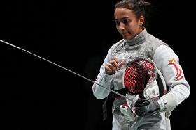 Olympics: Fencer Amita Berthier learns lesson after defeat on debut