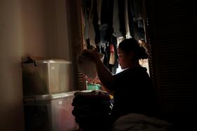 A migrant domestic worker at work on Dec 28, 2020.