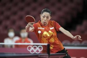 Singapore's Yu Mengyu is in the round of 16 of the women's singles.