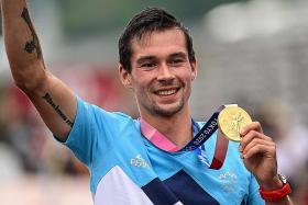 Primoz Roglic wins gold after Tour de France nightmares