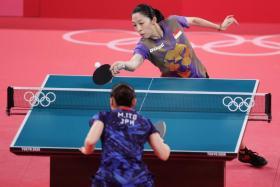 Yu Mengyu lost 4-1 to Mima Ito.