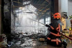 Mr Allan Tan, owner of Dancesport De Allan, and his coaching partner, Ms Alice Teo, have no idea what caused the fire. They had been operating their dance studio for 21 years.