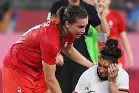 US women fail in bid to regain Olympic football title