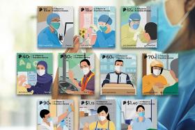 SingPost honours front-line workers with new stamps