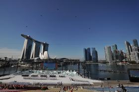Scaled-down National Day parade, but same crowd favourites
