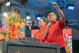 Auctioneer Lim Ming Kian, 38, last conducted an auction in February last year.