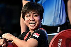 Powerlifter Aini finishes sixth, but happy with her technique