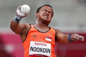 S'pore Paralympian Diroy Noordin breaks own national shot put record